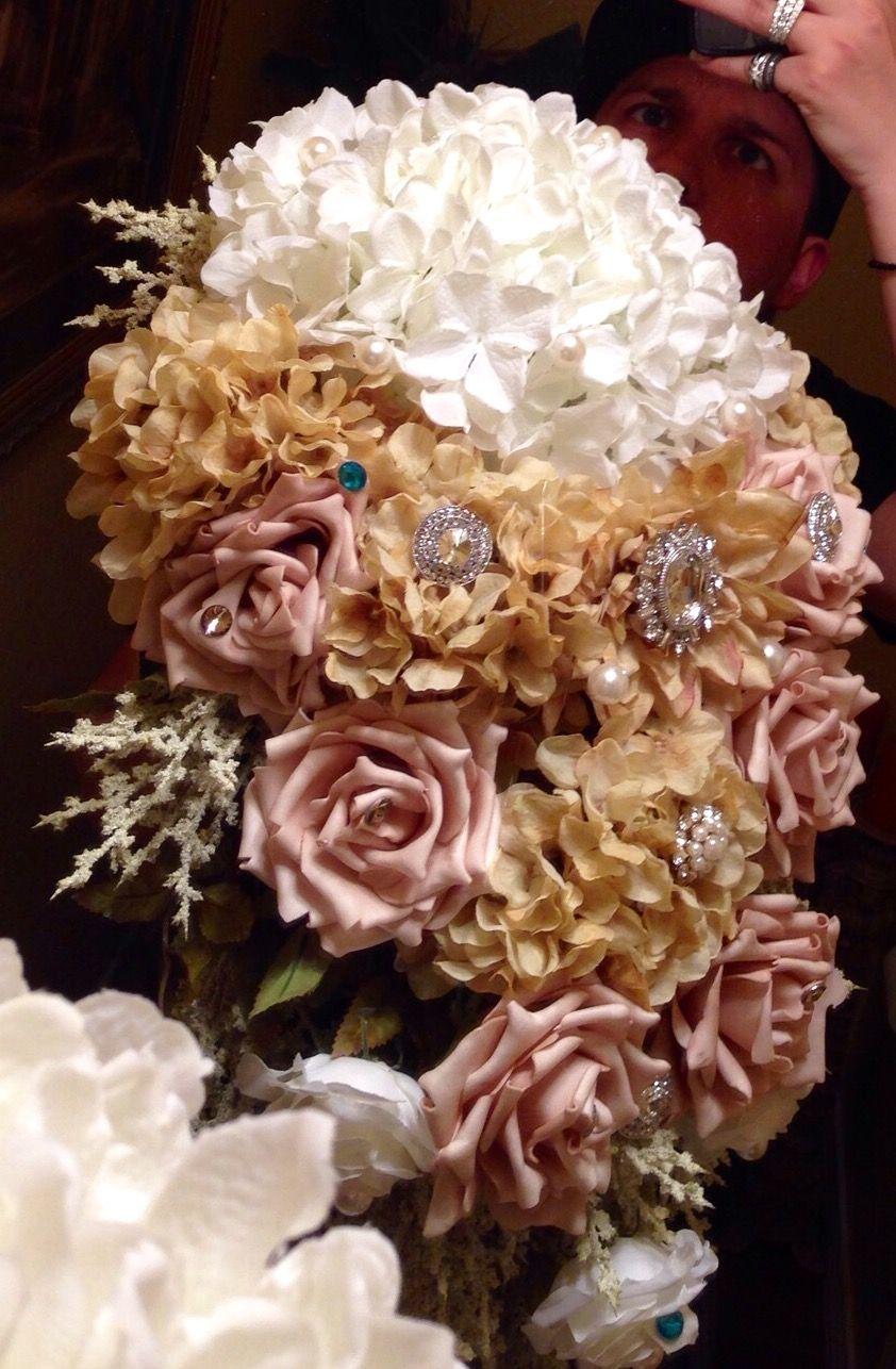 Quinceanera custom made cascading silk floral rhinestone bouquet quinceanera custom made cascading silk floral rhinestone bouquett bad for my 1st izmirmasajfo