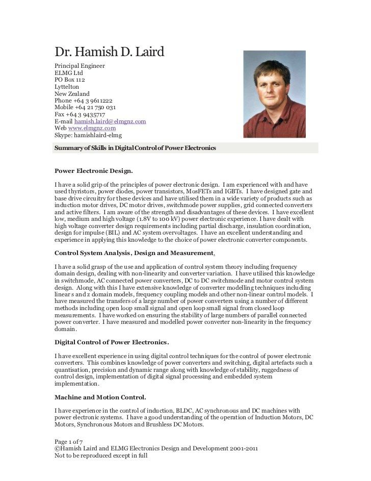 Digital Image Processing Resume New Zealand  Template