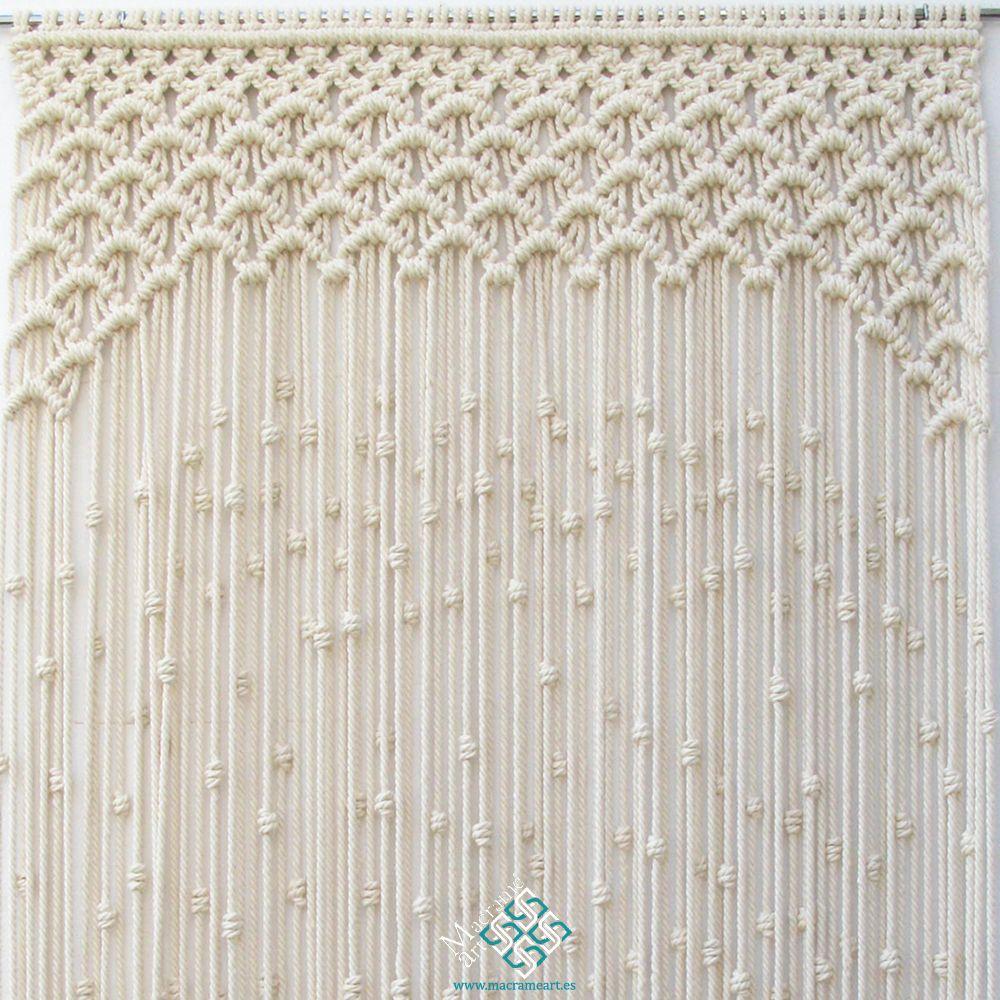Cortina de macram modelo ondas puedo hacer la cortina de for Modelos de cortinas