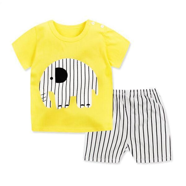 1a22eb9b0ae1 2PCS Suit Baby Boy Clothes Children Summer Toddler Boys Clothing set  Cartoon 2018 New Kids Fashion Cotton Cute Stars Sets 9M-6Y