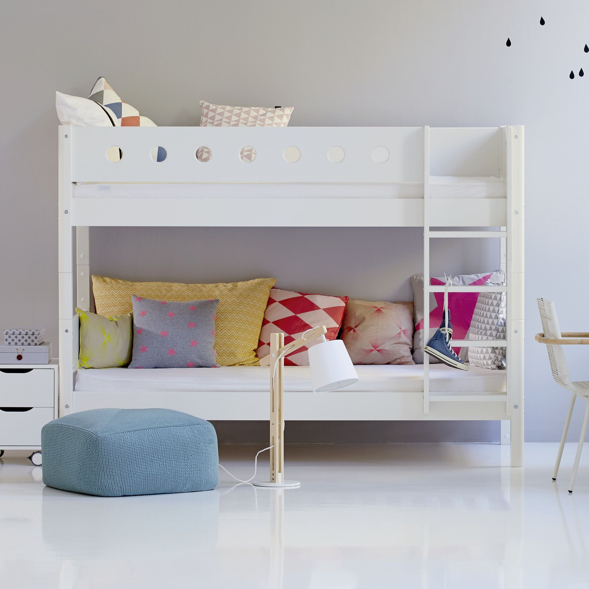 FLEXA Standard Bunk Bed Low bunk beds, Cool bunk beds