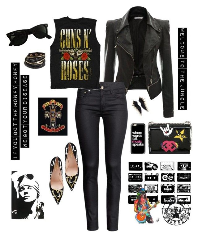"""Welcome To The Jungle"" by autumness-1 ❤ liked on Polyvore featuring H&M, Dsquared2, Casetify, Kate Spade, Arizona, Mignonne Gavigan and Ray-Ban"