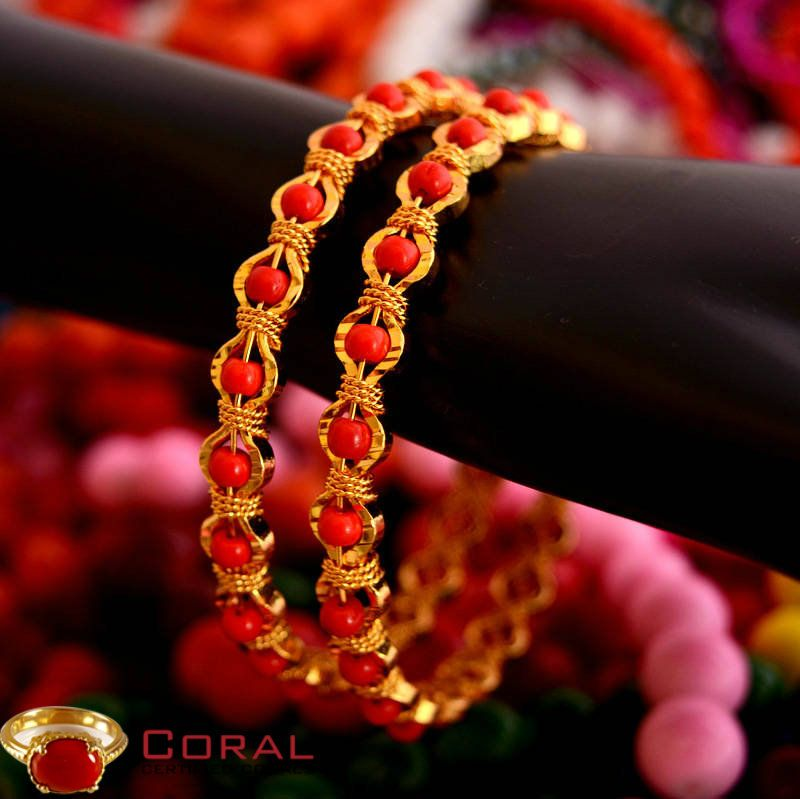This Contemporary Red Coral Bangles Makes A Perfect