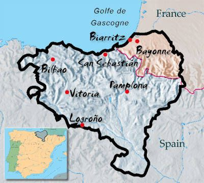 Basque France Map.Overview Of Basque Country Basque Country Pinterest Basque