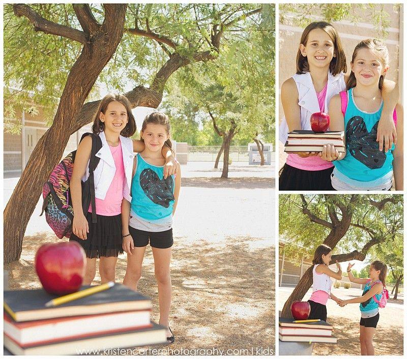 Back to school kid sister children photos gilbert az kristen carter photography