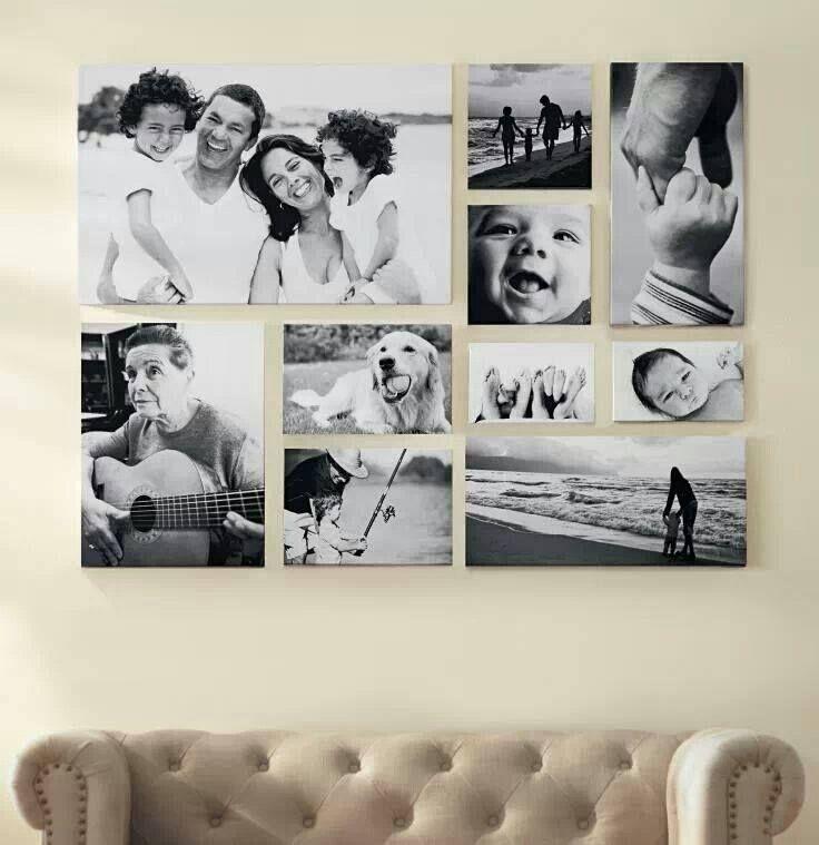 Picture Frame Collage - Above Sofa decoracion Pinterest