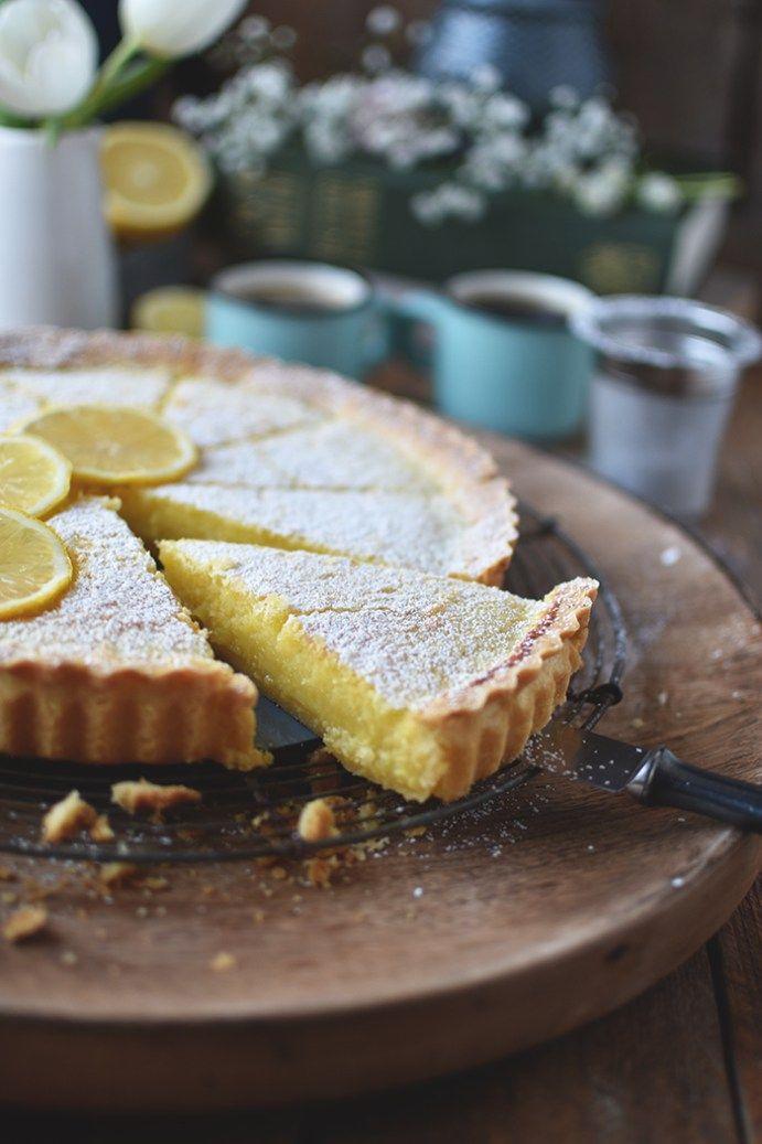 Zitronen Buttermilch Shortbread Tarte Fruhlingsgefuhle Rezept