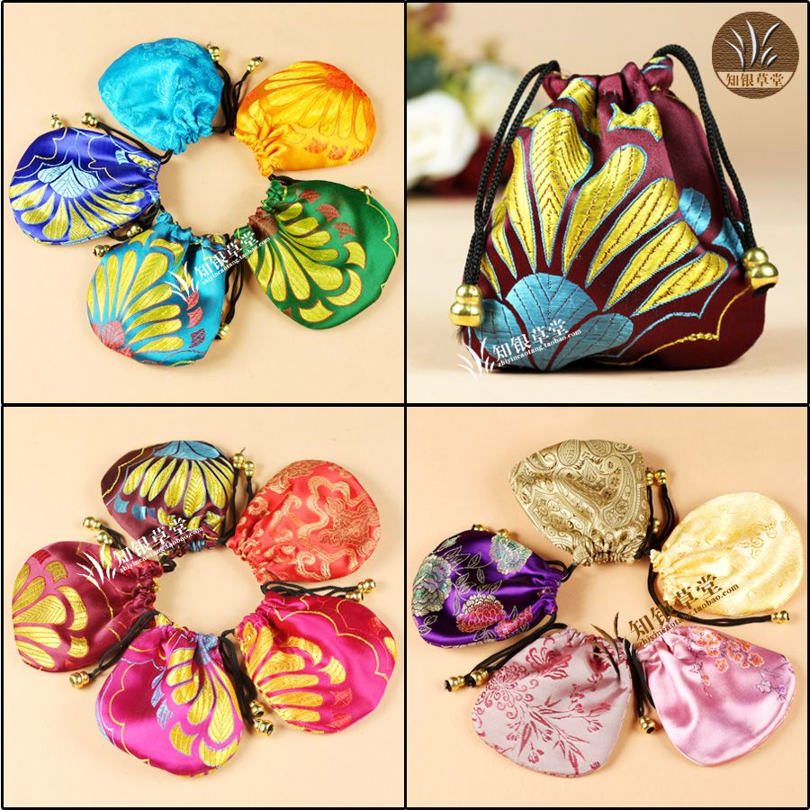 Small silk bags jewelry  gift box jewelry beads bags jewelry packaging bag small pounch 11x11cm chinese style gift Brocade bag