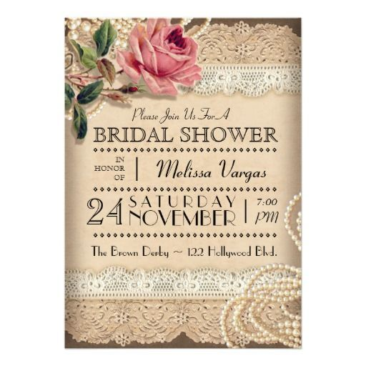 Throw a vintage style bridal shower with a rustic look will remind throw a vintage style bridal shower with a rustic look will remind you of the victorian era this gorgeous invitation features a vintage image of a pink filmwisefo