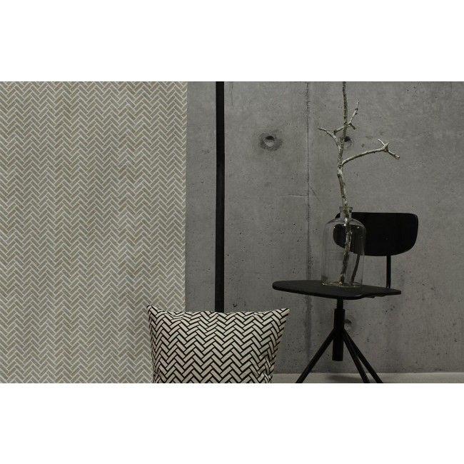 Linen Cotton fabric patterned Chevron Black - Ada & Ina   Linen ...