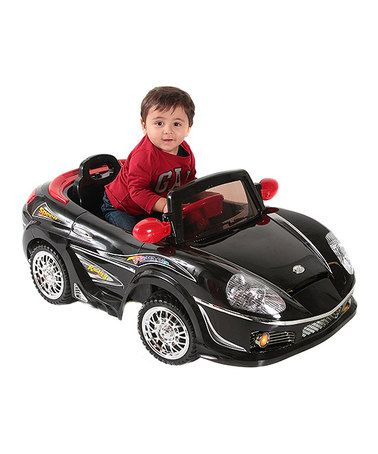 Loving This Black Convertible Sports Car Ride On On #zulily! #zulilyfinds