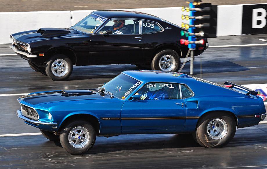 Mustang Vs Maverick Muscle Cars Drag Racing Mustang