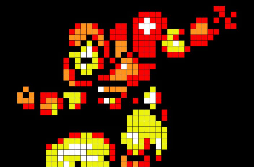 Iron Man Pixel Art Pixel Art Lego Art Art