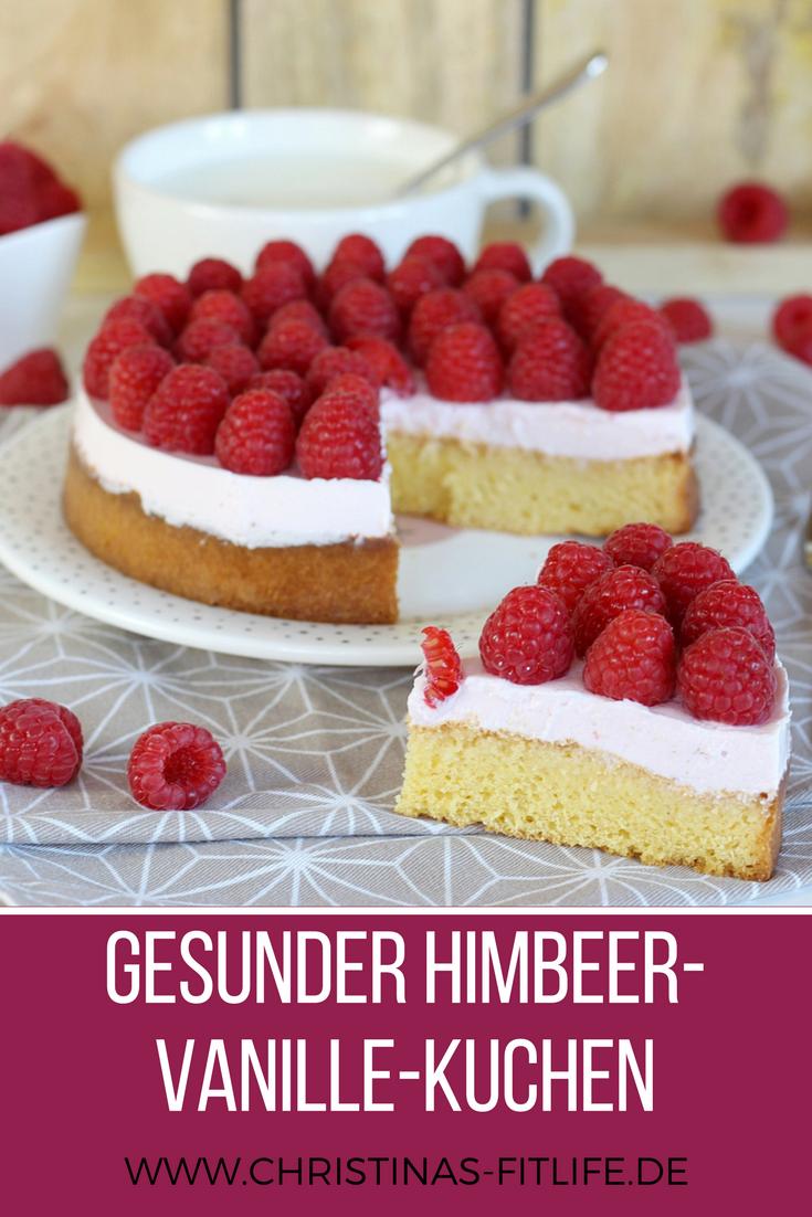 ᐅ Gesunder Himbeer Vanille Kuchen I Rezepte By Christina Rezepte