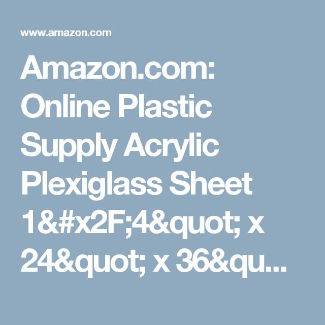 Amazon Com Online Plastic Supply Acrylic Plexiglass Sheet 1 X2f 4 Quot X 24 Quot X 36 Quot Clear Industrial Am Bone Health Osteoporosis Natural Health