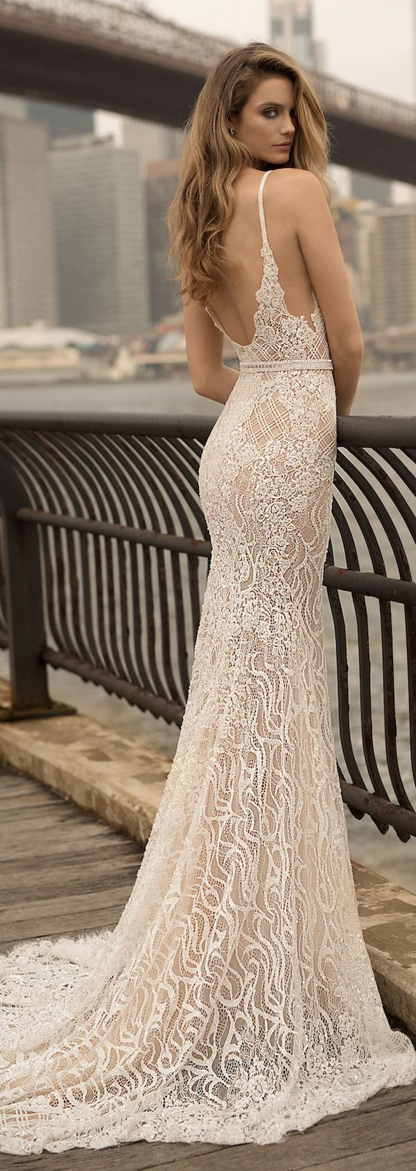 Berta spring wedding dresses deer pearl flowers wedding