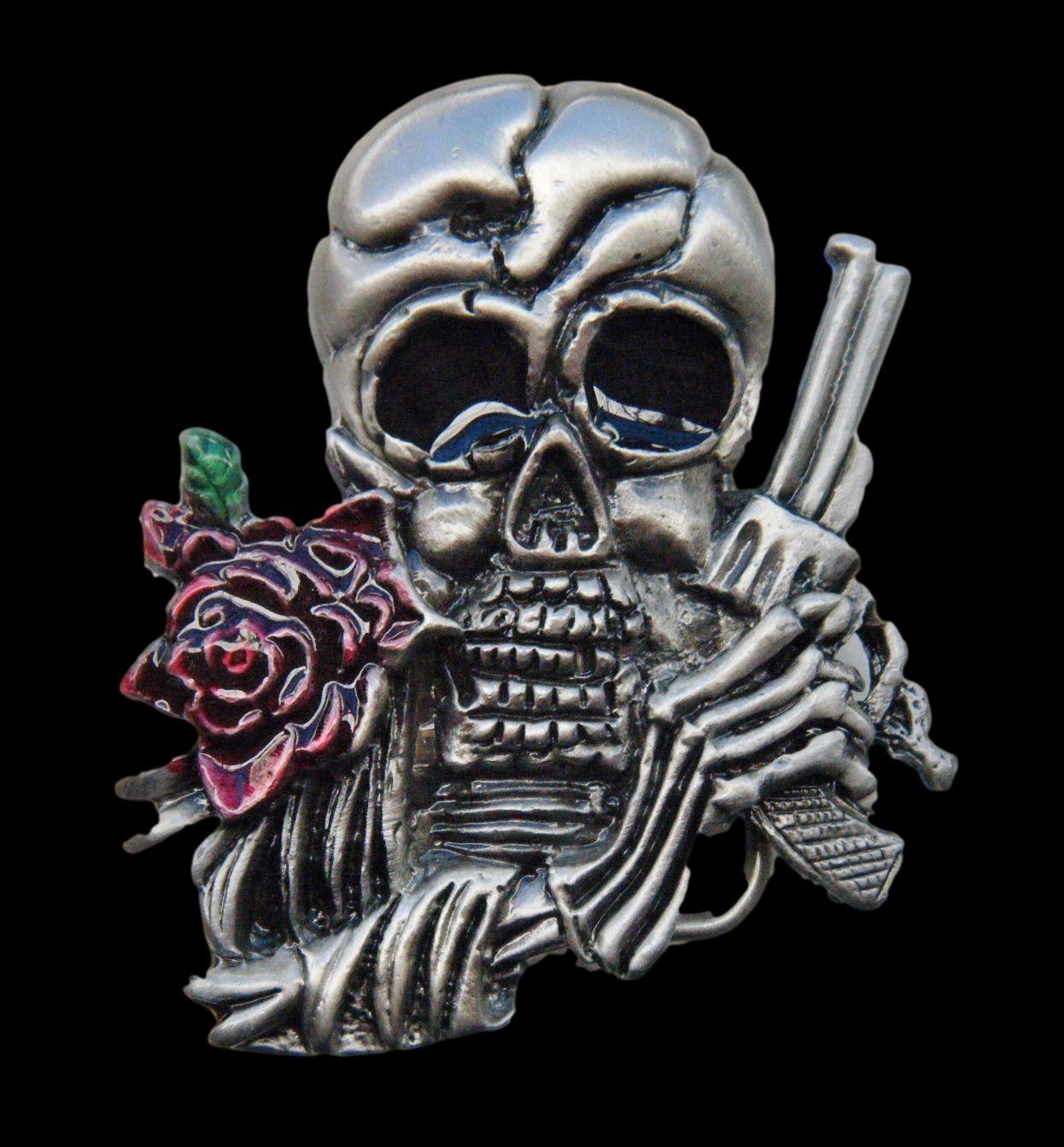 Guns n roses Skull, Skull belt buckle, Skulls and roses