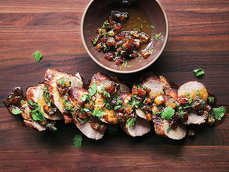 Pork tenderloin with date and cilantro relish photo romantic pork tenderloin with date and cilantro relish photo romantic recipes recipe epicurious forumfinder Choice Image