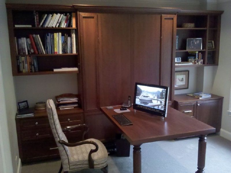 Murphy bed wall desk combination Bedroom office combo furniture