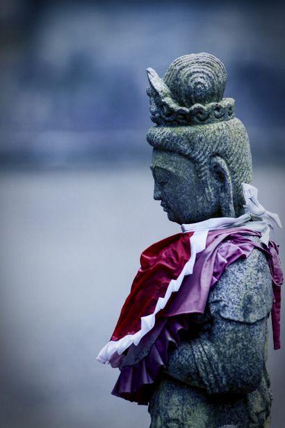 Jizo statue at Kegon-ji temple, Gifu, Japan