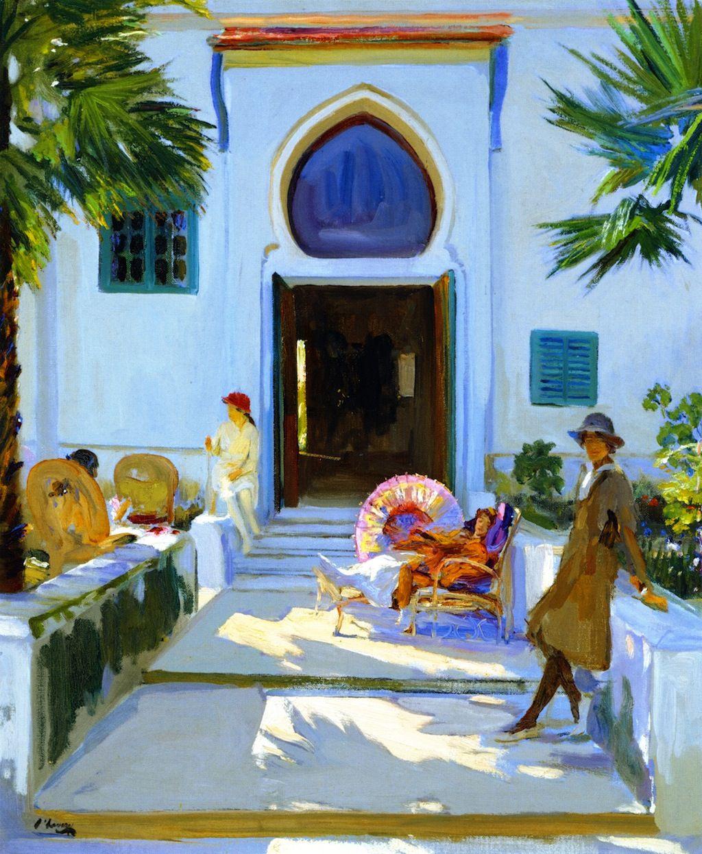 The Athenaeum - My Studio Door, Tangier (Sir John Lavery, R.A. - 1920)