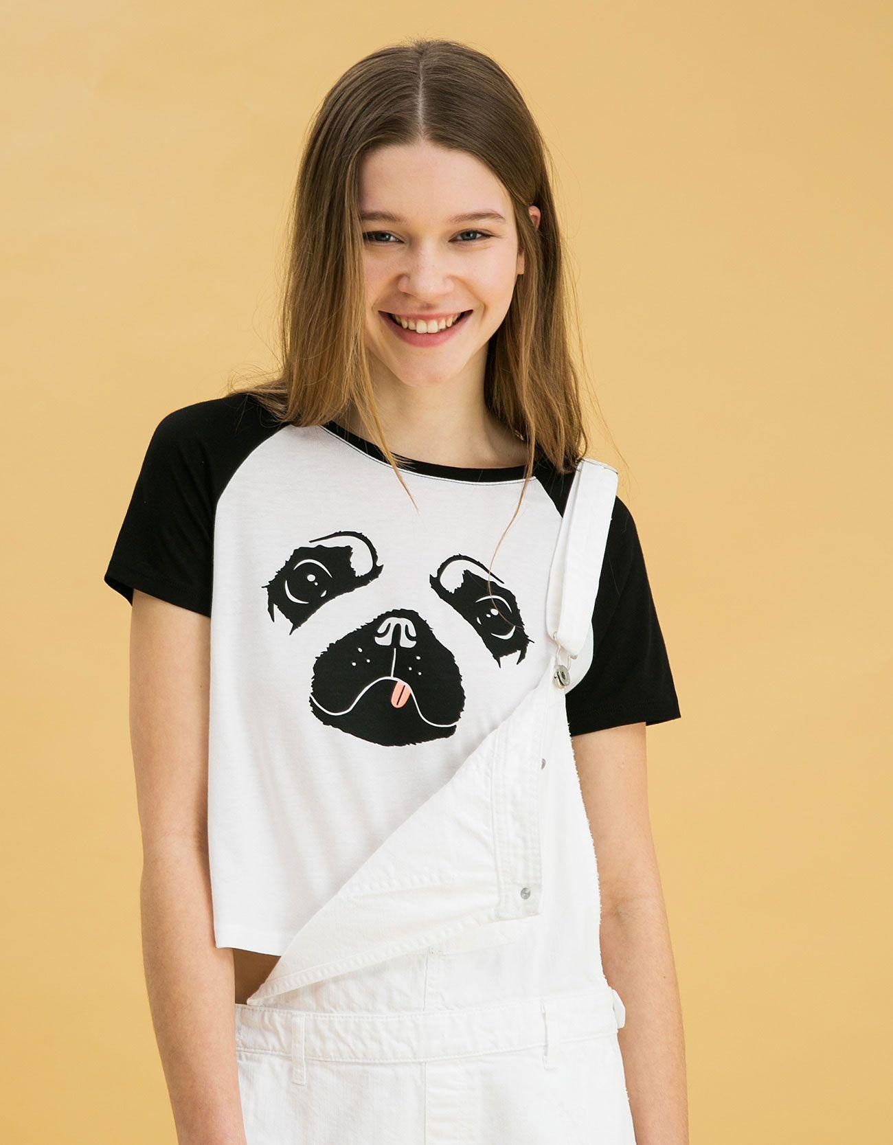 Camiseta BSK estampado perro - Estampadas - Bershka Mexico  e826df3417d0b