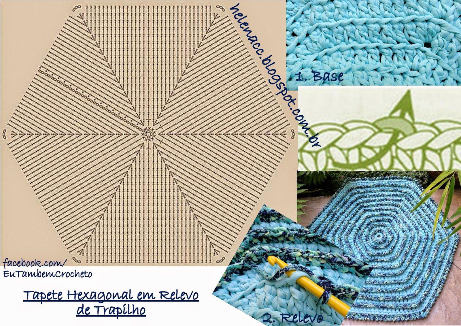 Bonito Crochet Patrón Hexagonal Manta Festooning - Coser Ideas Para ...