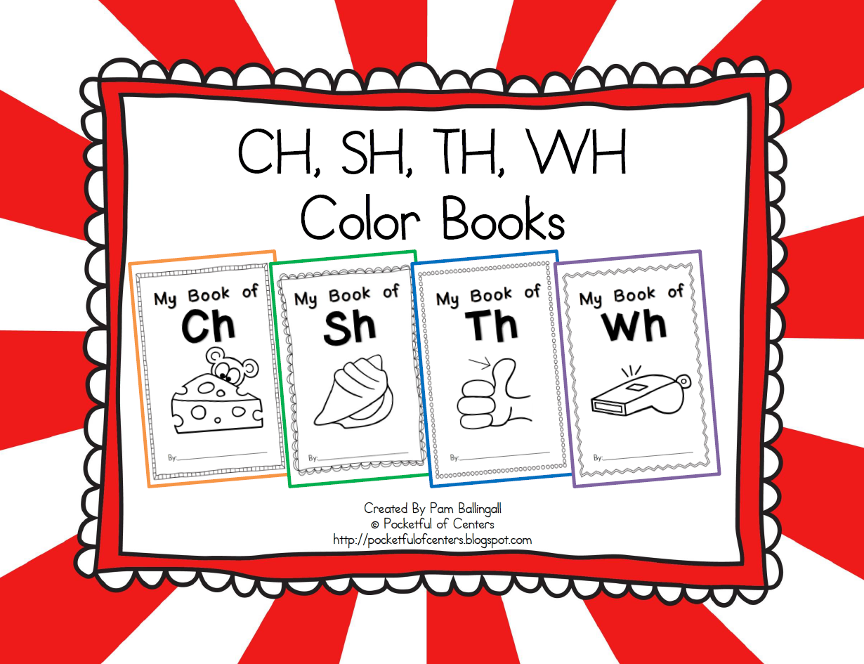 Digraphs Emergent Readers Ch Sh Th Wh