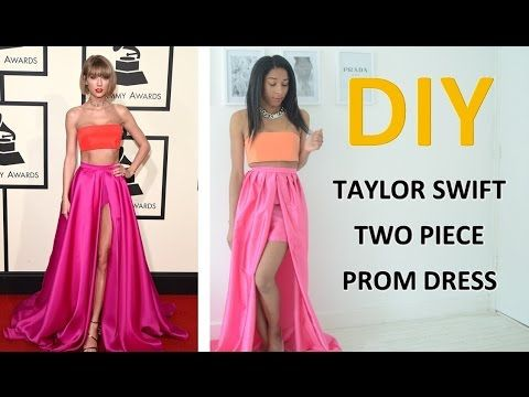 DIY REQUEST 2 | TAYLOR SWIFT TWO PIECE PROM DRESS/GOWN - YouTube ...