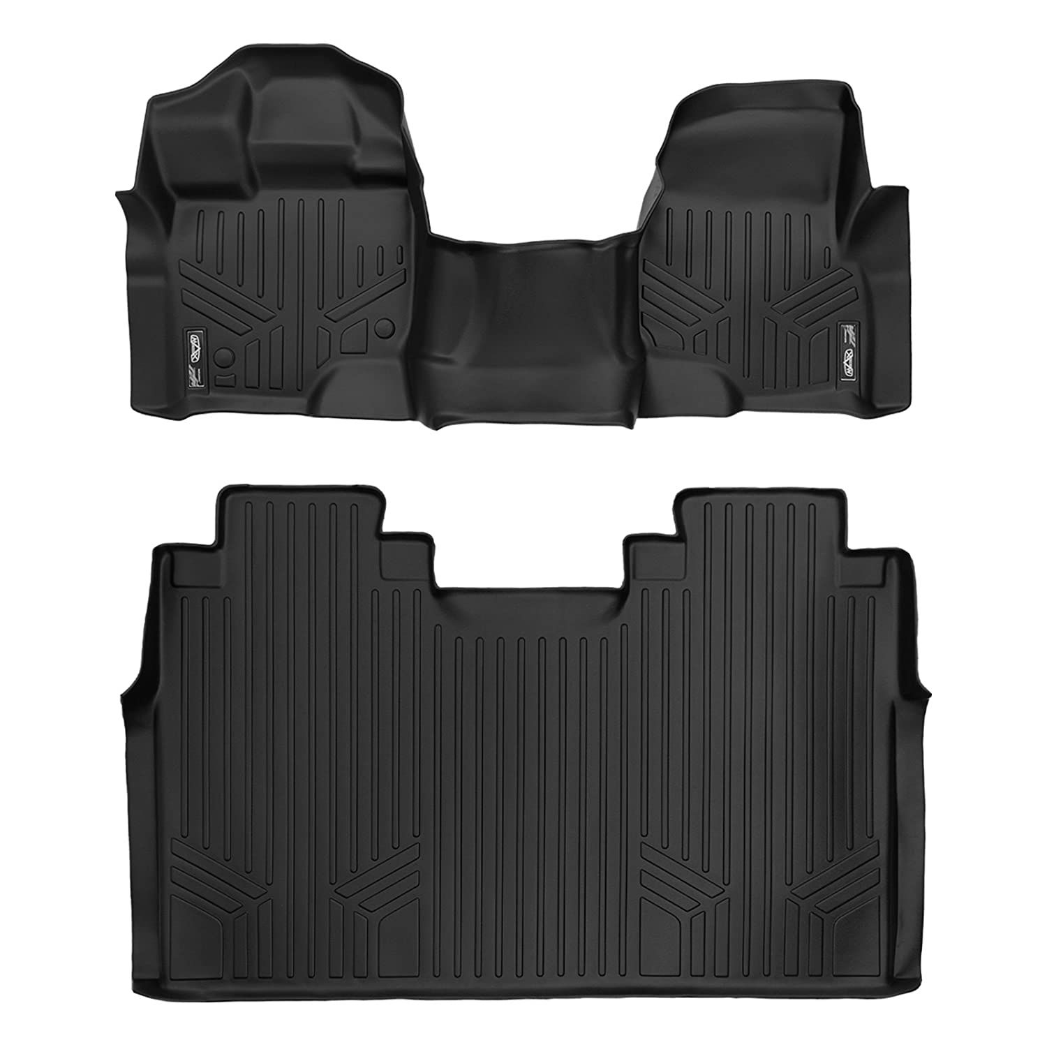 SMARTLINER Floor Mats 2 Row Liner Set Black for 20152018