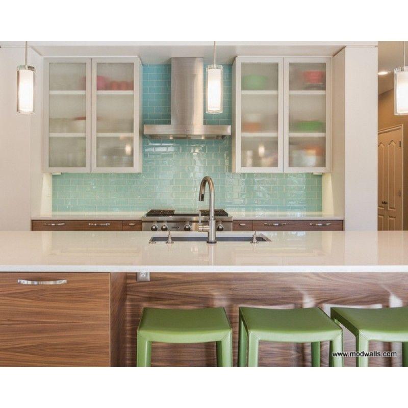 Lush Custom Glass Subway Tile Breaker Modern Kitchen Tiles Modern Kitchen Faucet Glass Subway Tile