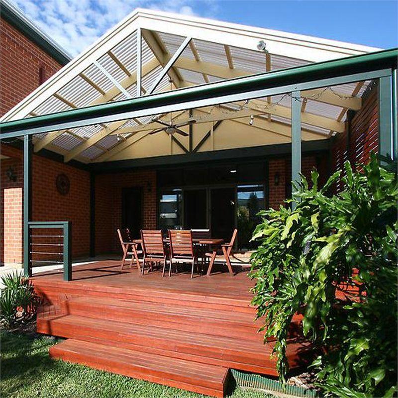 Softwoods 4.8 x 2.4m Suntuf Standard Patio Gable Roof Kit
