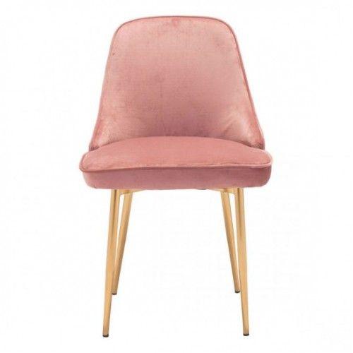 Surprising Pink With A Sheen Velvet Dining Chair Gold Legs In 2019 Uwap Interior Chair Design Uwaporg