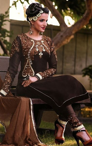 6d6377a2f42a Picture of Charming Coffee Color Salwar Kameez