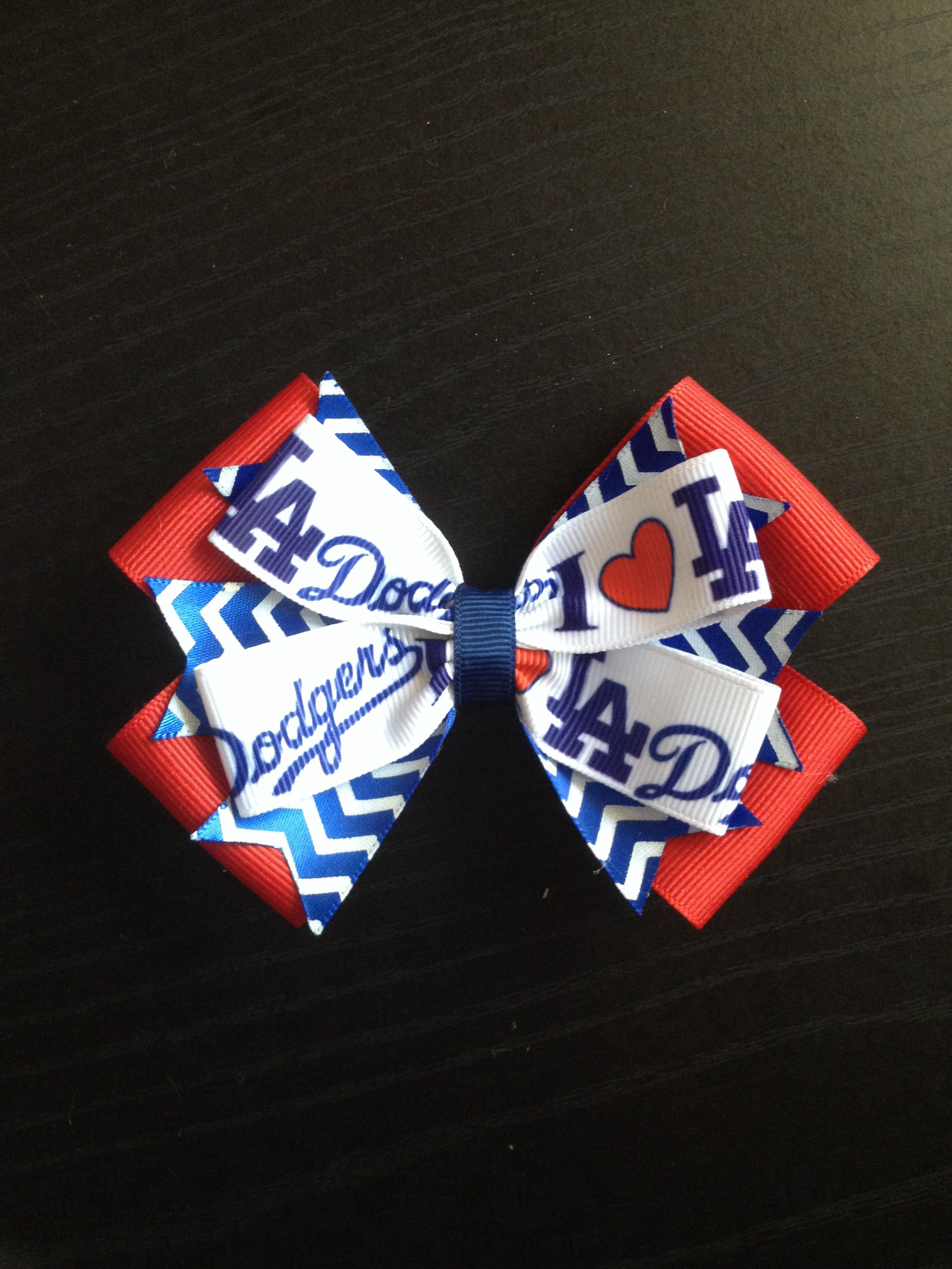 Dodgers hairbow hairbows pinterest
