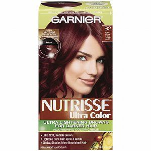 Garnier Nutrisse Nourishing Nutri Browns Lightening Color Creme For Dark Hair Reddish Brown B2 Roasted Coffee