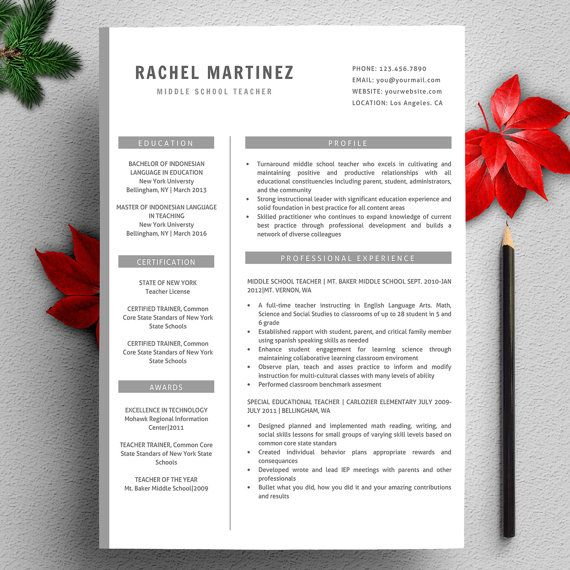 Profesional Creative Resume Template For Word Us Par Qualityresume