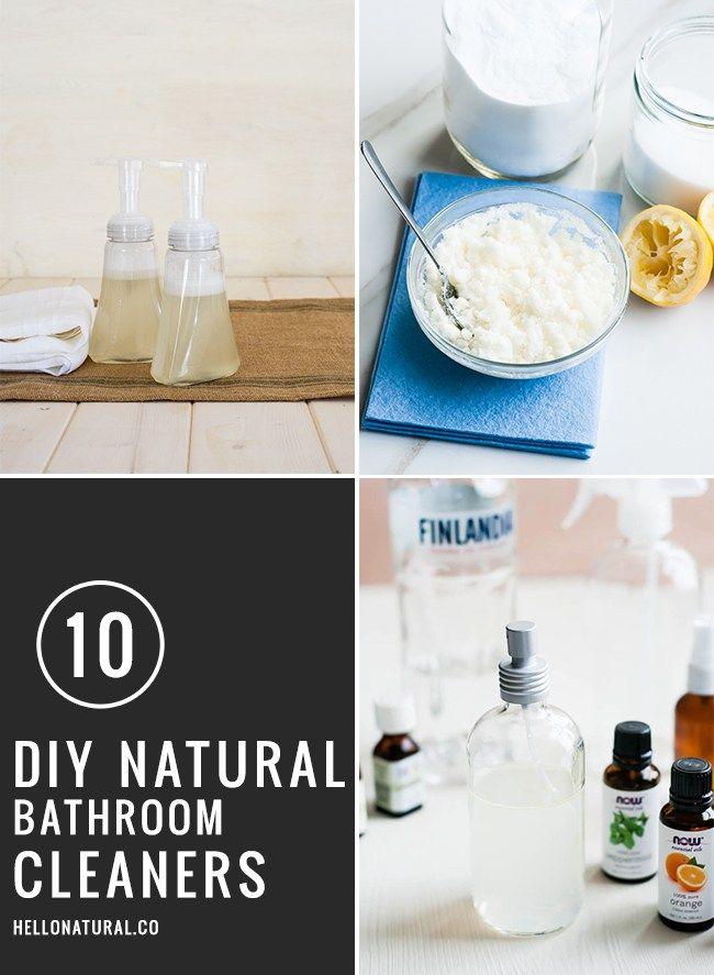 10 DIY Natural Bathroom Cleaners | Hello Glow