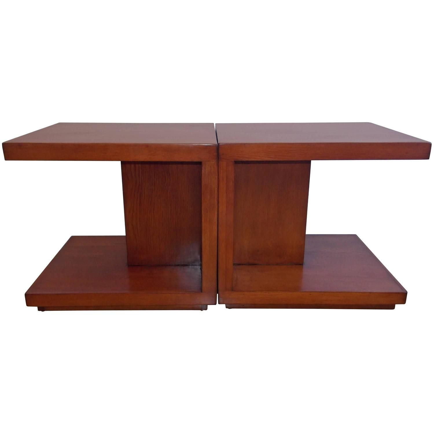 Early Van Keppel and Green Architectural End Tables California Design | 1stdibs.com