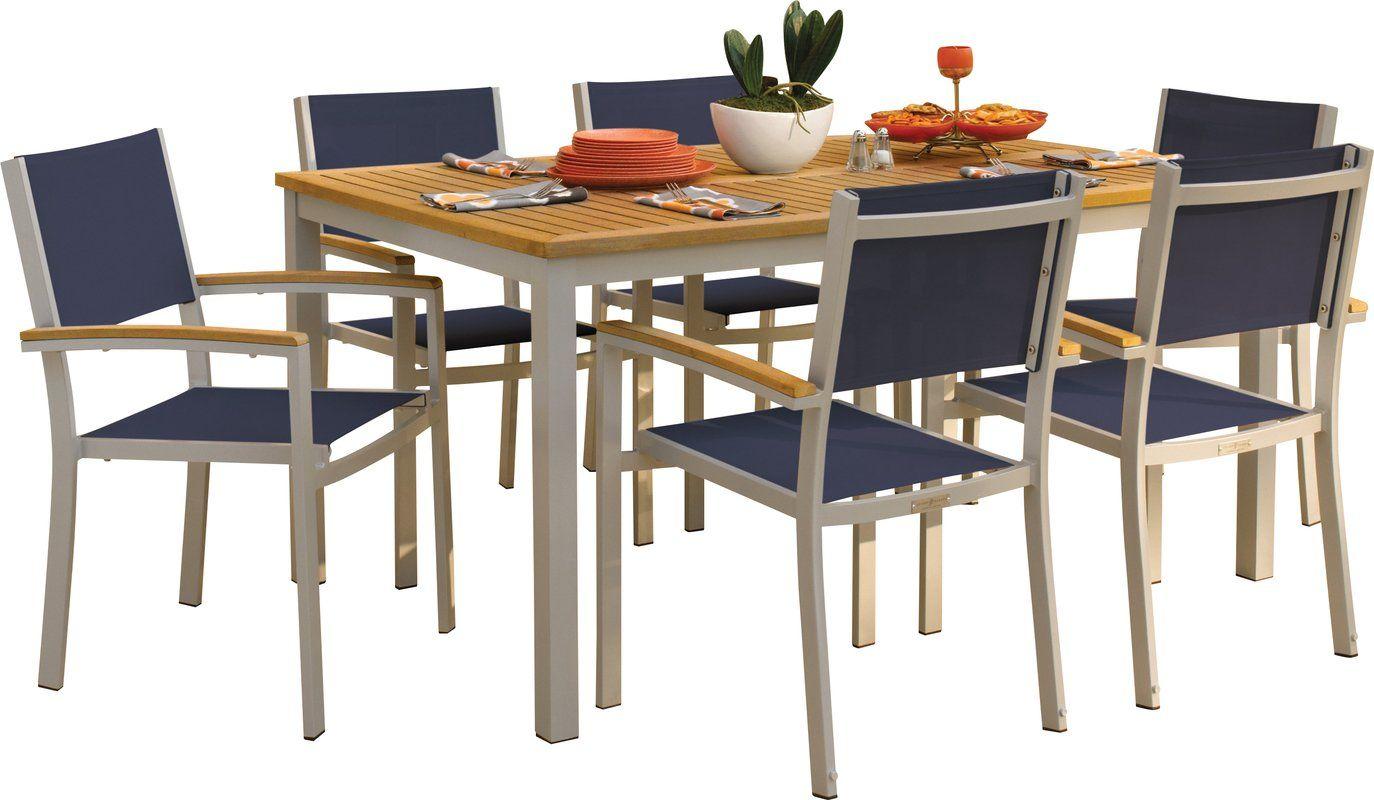 Farmington 7 piece dining set with leg end caps