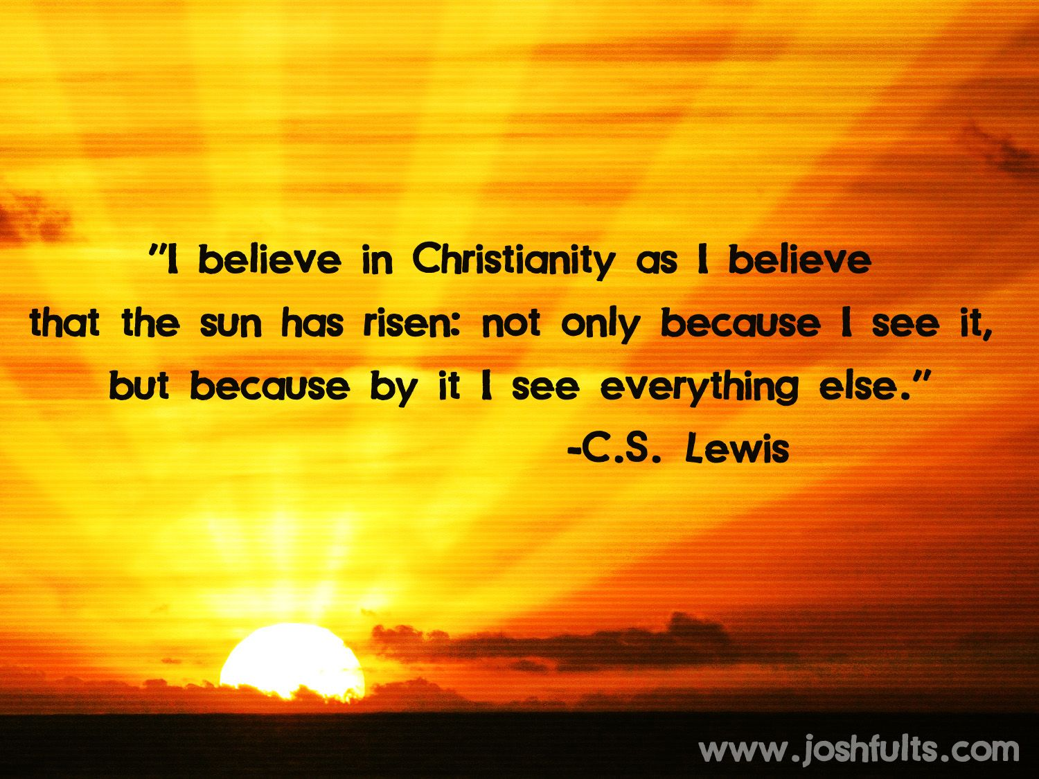 Simply Sunday | From C.S. Lewis
