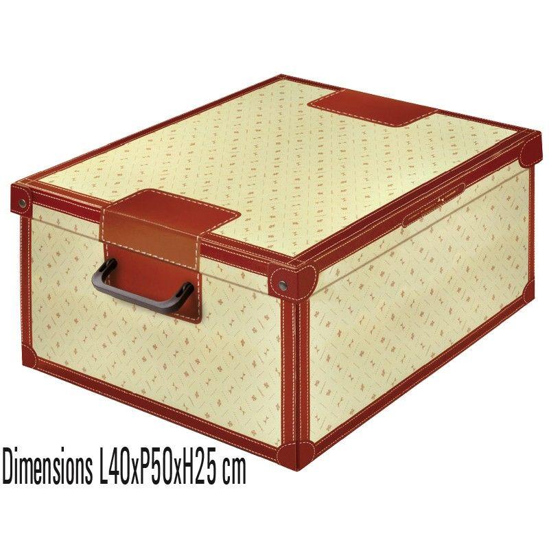 Boite De Rangement Decorative En Carton Avec Couvercle Decor Giglio Boite De Rangement Carton Boite De Rangement Boites De Rangement Decoratives
