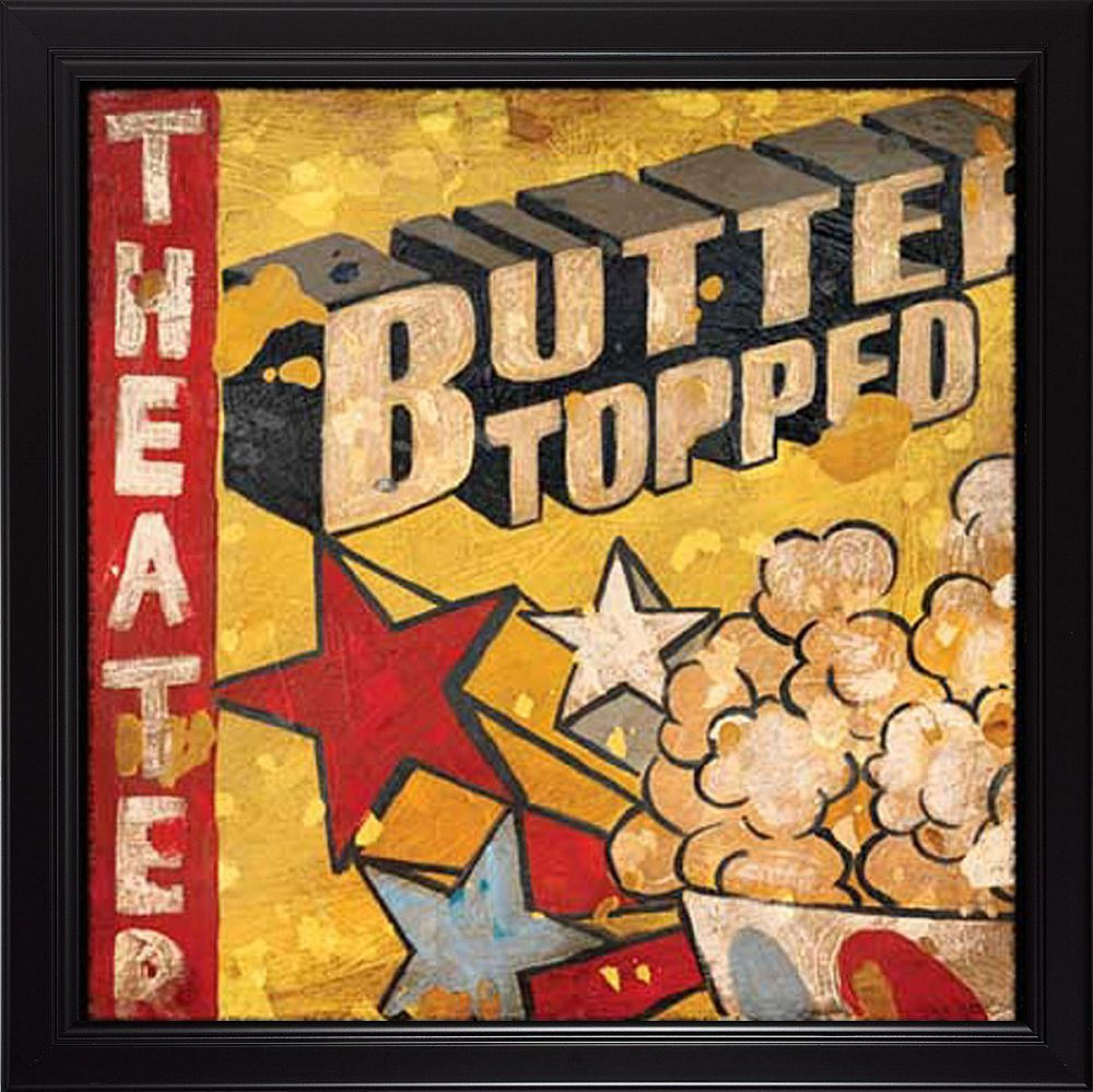 Image detail for -Buttered Topped Popcorn Theater Framed Wall Art ...