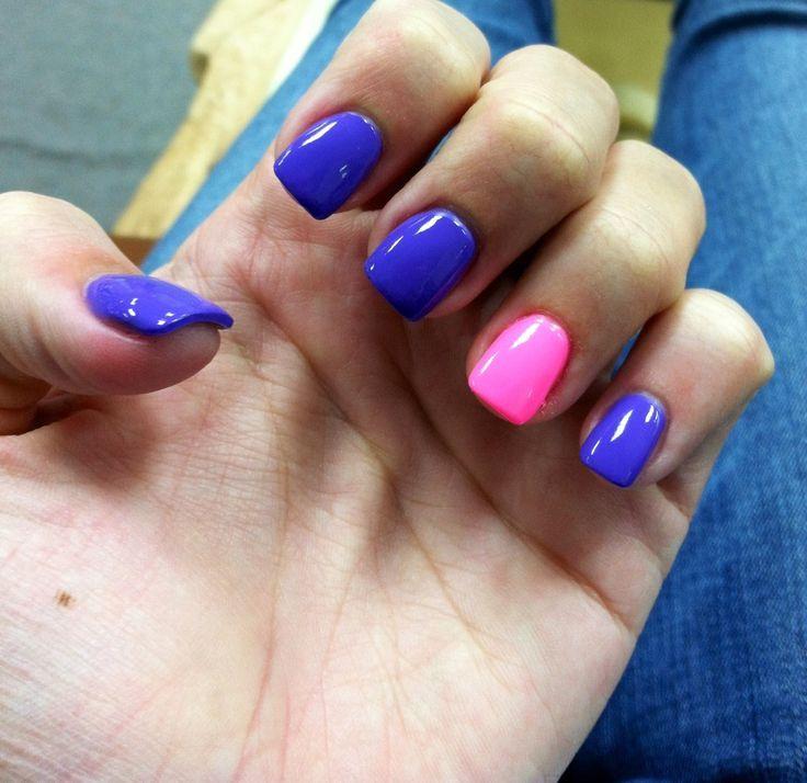 Short square nails, fun colors | Square acrylic nails ...