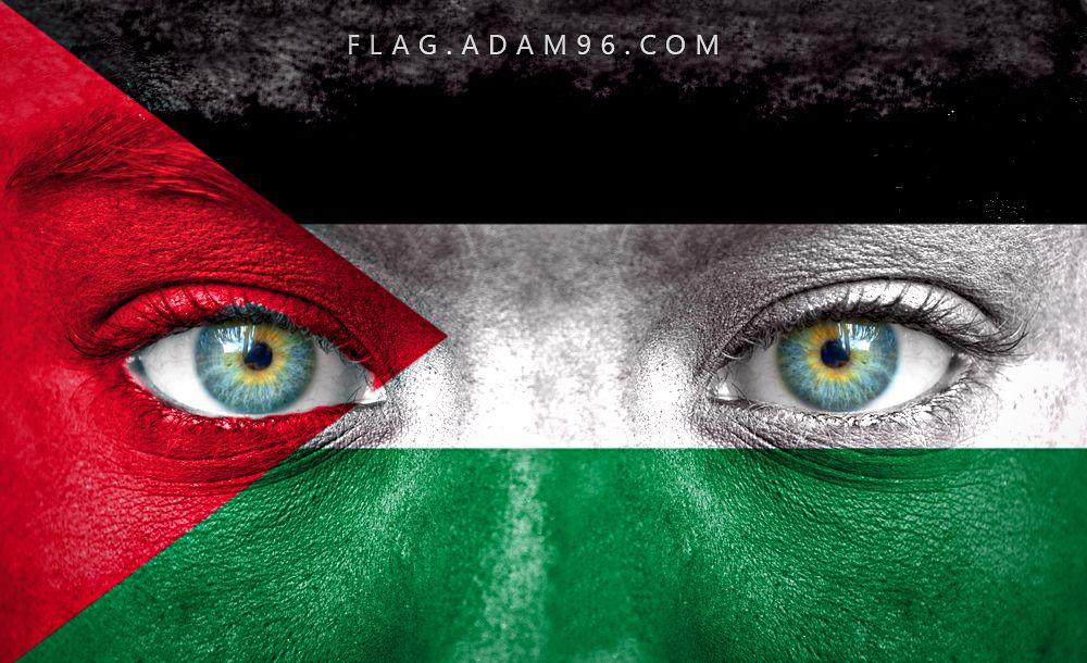 تحميل اجمل خلفية فلسطين صور علم فلسطين على وجه طفل رائعة Jordan Country Street Art Art