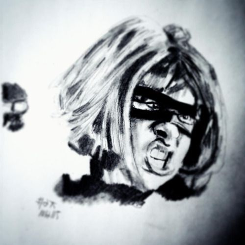 A #portrait de Chloë Grace Moretz como Hit Girl do burro do pontapé #art #artist #artists #draw #drawing #sketch #sketching #sketchbook #kickass #hitgirl #pencil #igers #picoftheday #photooftheday #artoftheday #pop #film #comics #comicbooks #artwork #creative #instaart #instagood #instaartist #instadaily #actress #arty #myart