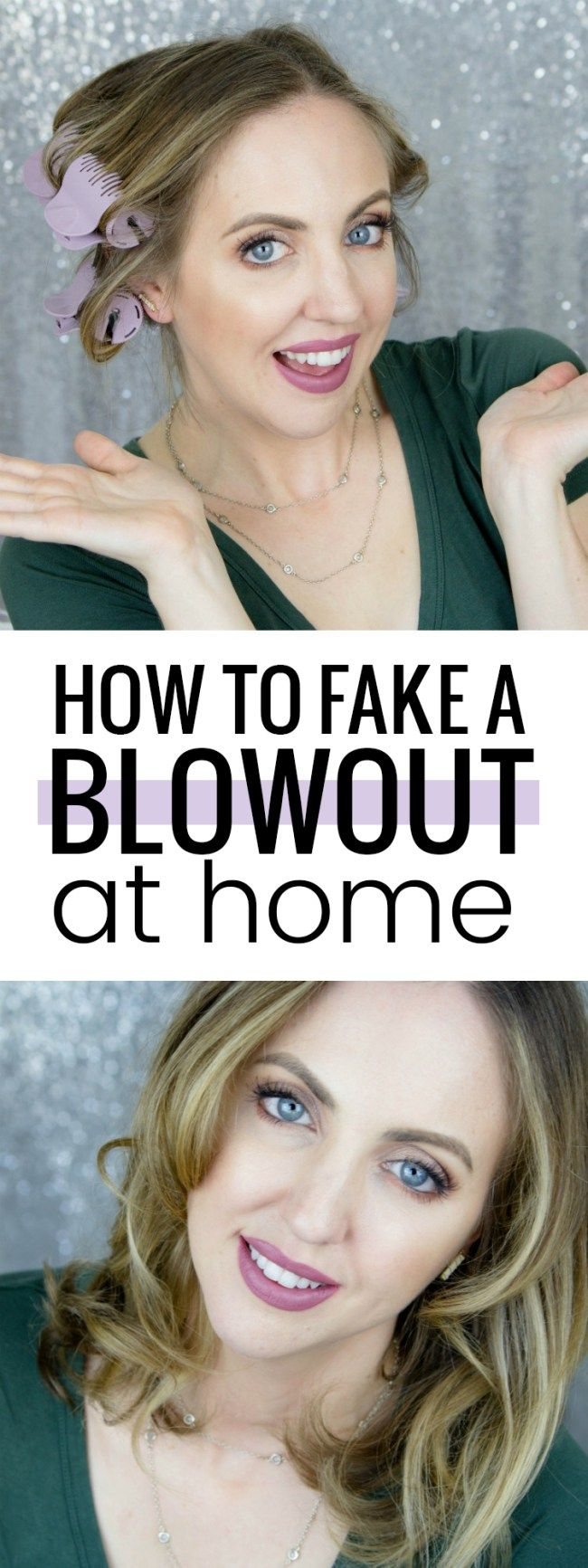 Fake a blowout at home bouncy curls voluminous curls and hair dryer