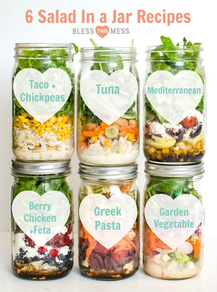 Salad in a Jar Recipes - Simple, Easy To Prepare,