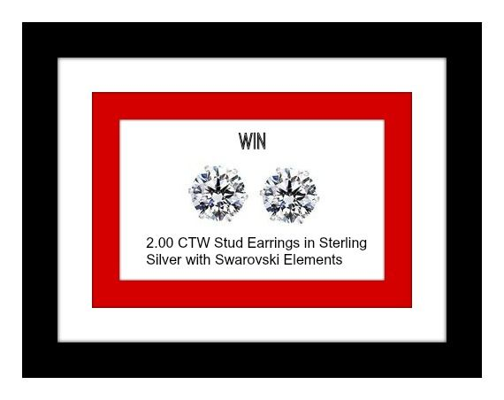 20bfd4a38be Win 2.00 CTW Stud Earrings in Sterling Silver with Swarovski Elements   Holidays  Giveaway http