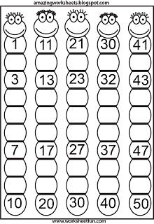 Missing Numbers. You could have students color even